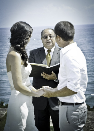 The Ceremony - Tyler and Jessica's Wedding in San Juan, Puerto Rico