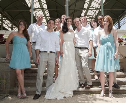 Wedding Party Attire - Tyler and Jessica's Wedding in San Juan, Puerto Rico