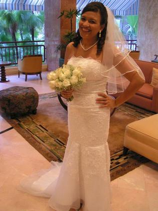 Ordered this dress on Ebay from china. The Wedding Dress - Sechel and Gilberto's Wedding in Rincon,  Puerto Rico