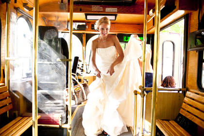 Location: Trolley The Newlyweds - Katherine and Chris's Wedding in Savannah, GA, USA