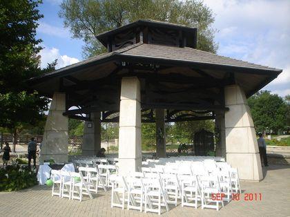 Ceremony at the gazebo on Walton Island (Elgin, IL) The Ceremony - Elgin Wedding In September in Elgin, IL, USA