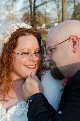 The happy couple! The Newlyweds - Niagara Falls Wedding In November in Niagara Falls, NY, USA