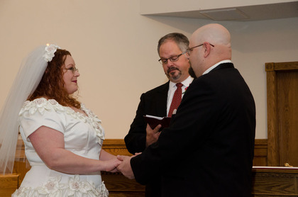 Pastor Maines and the vows The Ceremony - Niagara Falls Wedding In November in Niagara Falls, NY, USA