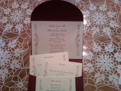The Invitations - Niagara Falls Wedding In November in Niagara Falls, NY, USA