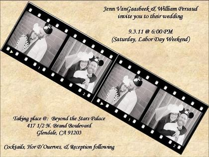 The Invitations - Jennifer and William's Wedding in Los Angeles, CA, USA