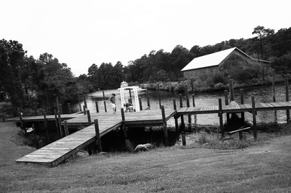 back dock of the house The Ceremony - Amy and Shawn 's Wedding in Manteo, NC, USA