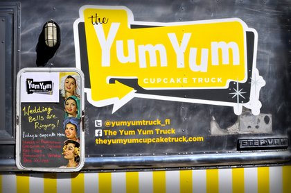 The Yum Yum cupcake truck!! Cakes and Desserts - Our Wedding in Orlando, FL, USA