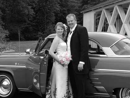 This is the car that I arrived in style in.  The Newlyweds - Stayton O Wedding In July in Stayton, OR, USA