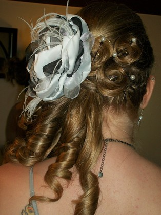 I loved my Hair. My husband wanted it down and I wanted it up. So this was my comrimise lol Hairstyles - Stayton O Wedding In July in Stayton, OR, USA