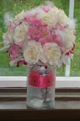 My mother did my bouquet, It was breath taking! Flowers and Decor - Stayton O Wedding In July in Stayton, OR, USA