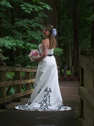 One of my favorite pictures  The Wedding Dress - Stayton O Wedding In July in Stayton, OR, USA