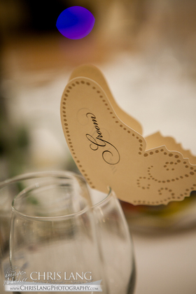Placecards by Timeless Paper, through Esty.com The Favors - Amanda and Ronald's Wedding in Wilmington, NC, USA