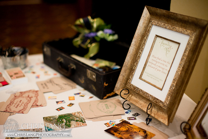 Guests wrote us postcards instead of signing a guest book Flowers and Decor - Amanda and Ronald's Wedding in Wilmington, NC, USA