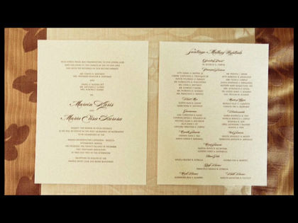 Simple, letter-pressed Invitations The Invitations - Sara  and Marvin 's Wedding in Manila, Philippines