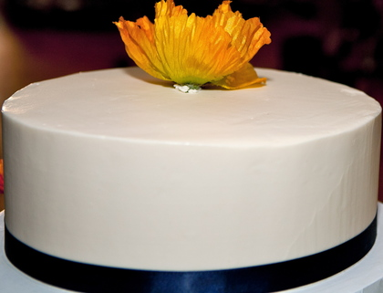 one layer of our PERFECT gluten free wedding cake by 2Good2B!! Cakes and Desserts - San Diego Wedding In October in San Diego, CA, USA