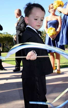 little-guy tux from Men's Warehouse.  $60 Wedding Party Attire - San Diego Wedding In October in San Diego, CA, USA