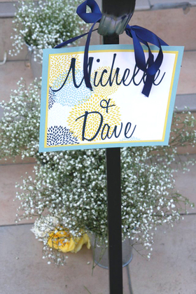 reception signage Flowers and Decor - San Diego Wedding In October in San Diego, CA, USA