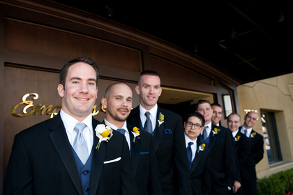 Men's Warehouse Tux's.  They looked good. Wedding Party Attire - San Diego Wedding In October in San Diego, CA, USA