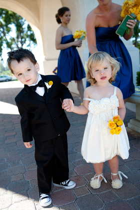 adorable flower girl dress with matching shoes Wedding Party Attire - San Diego Wedding In October in San Diego, CA, USA