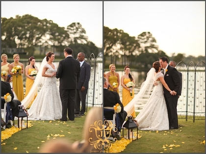 Our ceremony took place at dusk on the grass overlooking Linkhorn Bay in Virginia Beach. We personalized it by including family traditions from our families. It was a perfect day in October!  The Ceremony - Meagan & Nick's Wedding in Virginia Beach, VA, USA