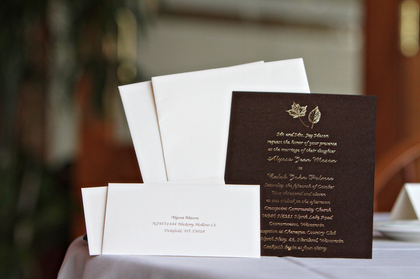 The Invitations - Oconomowoc Wedding In October in Oconomowoc, WI, USA