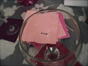Bar napkins stamped Cakes and Desserts - maria and gerard 's Wedding in Isla Mujeres, Mexico