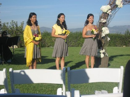 My sisters - aka the bridal party Wedding Party Attire - Clara and Vi's Wedding in Napa, CA, USA