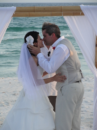 My best friend :) The Newlyweds - Jennifer and Mark's Wedding in Santa Rosa Beach, FL, USA
