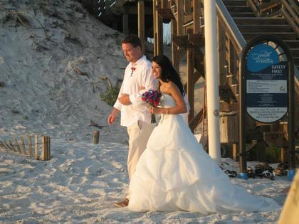 The Wedding Dress - Jennifer and Mark's Wedding in Santa Rosa Beach, FL, USA