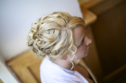 Hair done by Carmen at Beauty Milwaukee. I wanted a lot of texture and curls. LOVED my hair! Hairstyles - Ashley and Chris's Wedding in Milwaukee, WI, USA