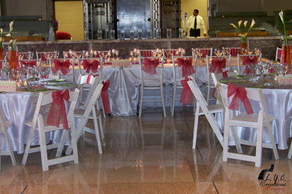 Our Reception Tables Designed By Kicking it with style - Jasmine and Tremaine's Wedding in Monroe, LA, USA
