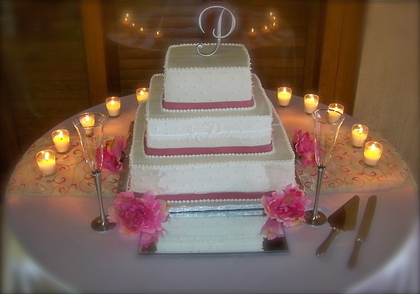 Cake by Linda's Specialty Cakes Cakes and Desserts - Jasmine and Tremaine's Wedding in Monroe, LA, USA