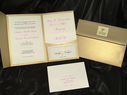 Designed and printed by Kicking It With Style Weddings & Events The Invitations - Jasmine and Tremaine's Wedding in Monroe, LA, USA