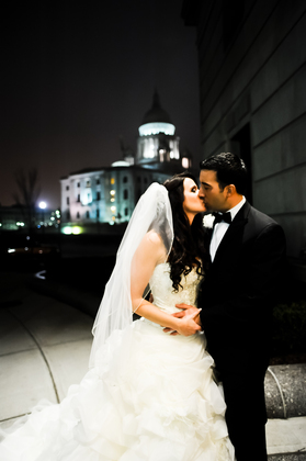 The Renaissance Providence Downtown Hotel has the perfect backdrop for photos. The Newlyweds, Venue - Jillian and Marc's Wedding in Providence, RI, USA
