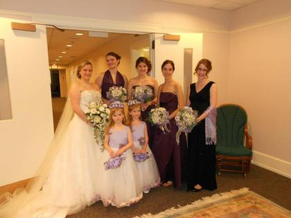 my bridesmaids, matron of honor and our twins (flower girls) Wedding Party Attire - West Chester Wedding In May in West Chester, PA, USA