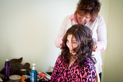 Hairstyles - Folly Beach Wedding In November in Folly Beach, SC, USA