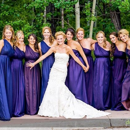 The Bridesmaids Wedding Party Attire - Vail Wedding In June in Vail, CO, USA