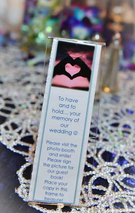 I made the inserts from a bookmark template The Favors - Magan and Miguel 's Wedding in Lyndhurst, OH, USA