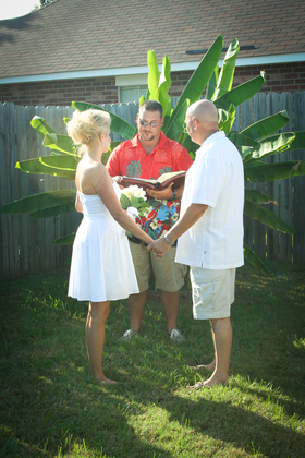 "I got to marry my best friend and soul mate! The Ceremony - Angela  and James ""Chuck""'s Wedding in Bossier City, LA, USA"