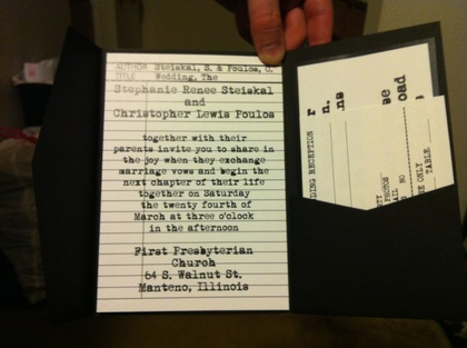 The Invitations - Stephanie and Christopher's Wedding in Manteno, IL, USA