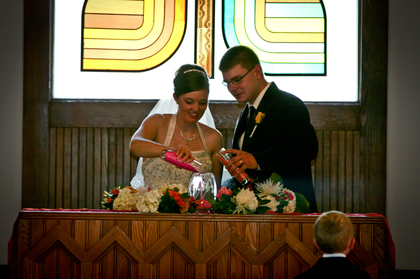 The Ceremony - Living History Farms Urbandale Wedding In September in Urbandale, IA, USA