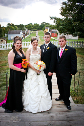 Wedding Party Attire - Living History Farms Urbandale Wedding In September in Urbandale, IA, USA