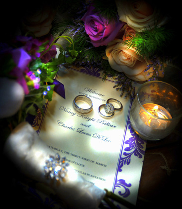 Rings and Ceremony Program. Jewelry - Nancy and Charlie's Wedding * in Waggaman, LA, USA