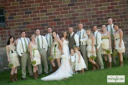 Wedding Party Attire - Tanners Brook Golf Club Wedding In August in Forest Lake, MN, USA