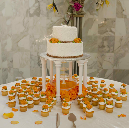 Wedding cake and cupcakes Cakes and Desserts - Palos Hills Wedding In April in Palos Hills, IL, USA