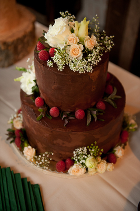 Backyard Gardens - chocolate cake Cakes and Desserts - Amy and Ryan's Wedding in Joseph, OR 97846, USA