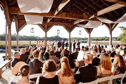 Our ceremony was on the Cotton Dock at Boone Hall Plantation in Mt. Pleasant, SC. The Ceremony - Kathryn and Andrew's Wedding in Charleston, SC, USA