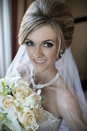 Hair and makeup by James Lane Hairstyles - Amanda and Nathan's Wedding in Ontario, CA, USA