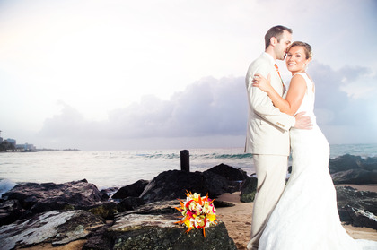 Kristen and Erik's Wedding in Isla Verde, Puerto Rico