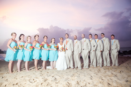 Wedding Party Attire - Kristen and Erik's Wedding in San Juan, Puerto Rico